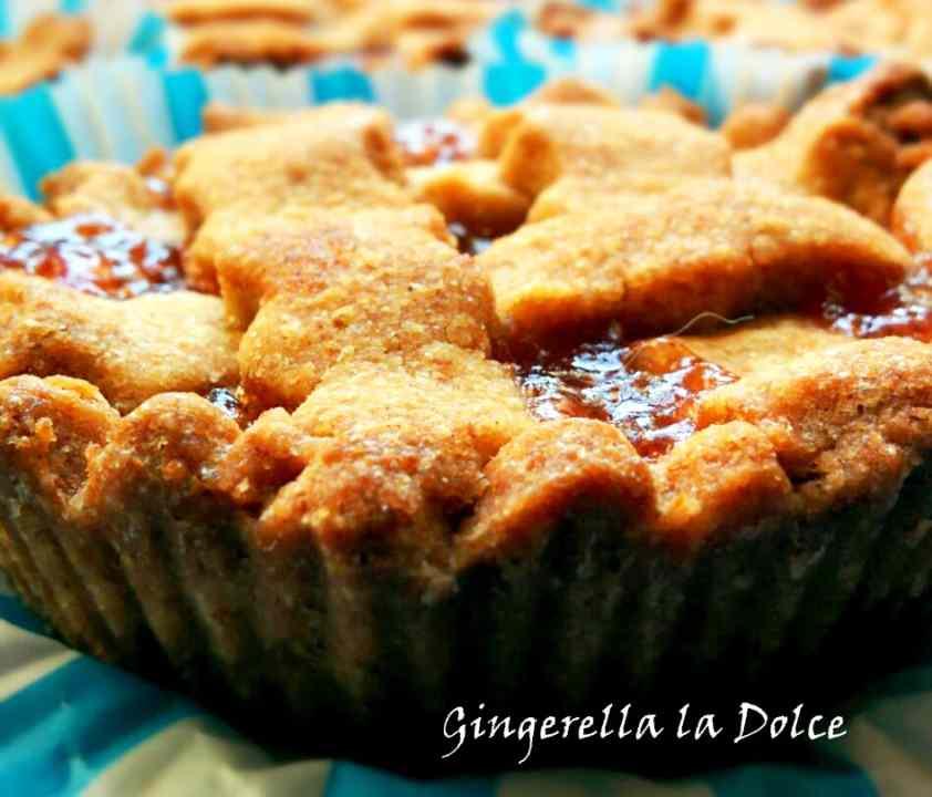 Ricetta: Crostatine integrali con marmellata Homemade pere e cannella