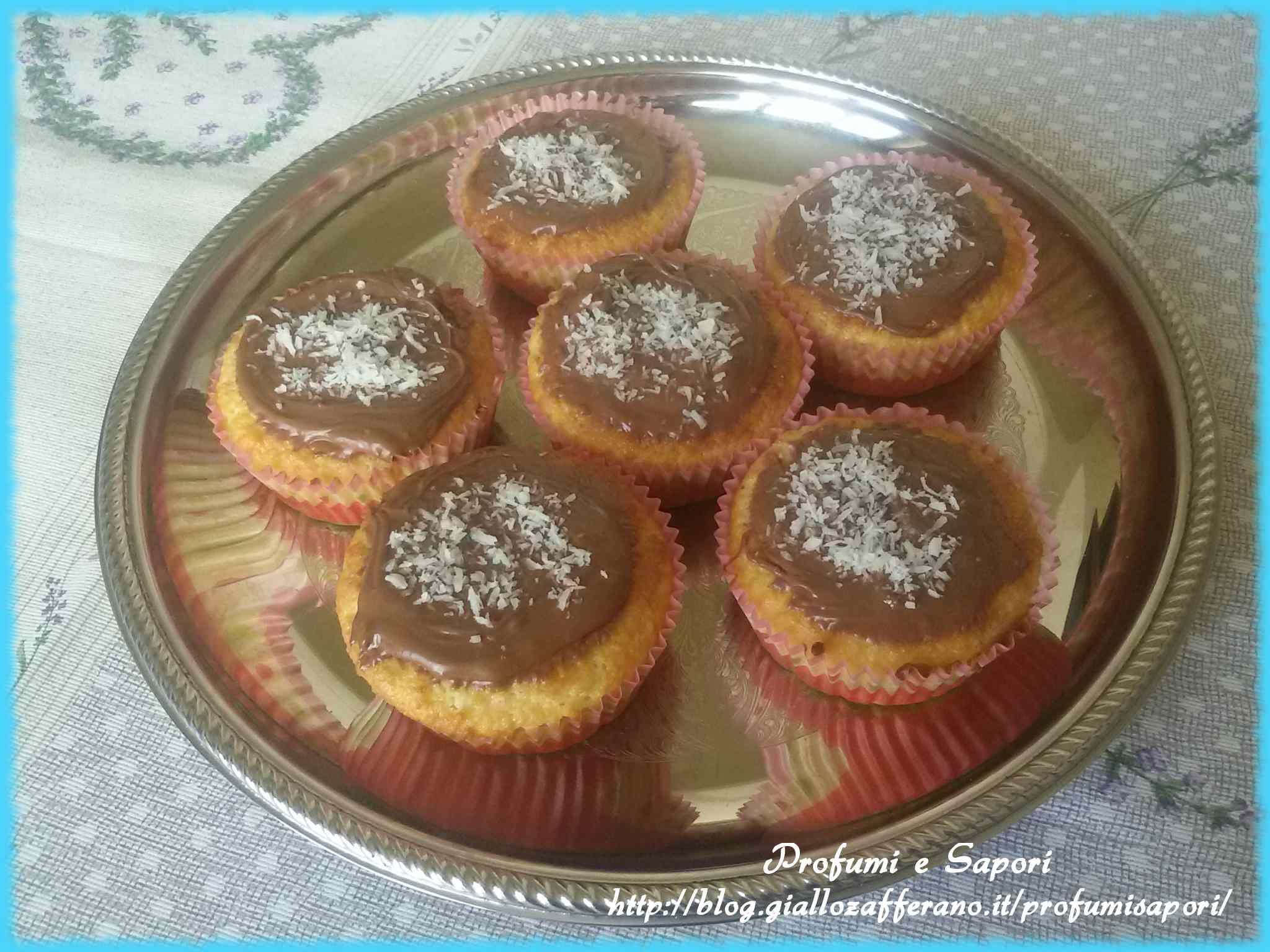 Ricetta: Muffin cocco e nutella