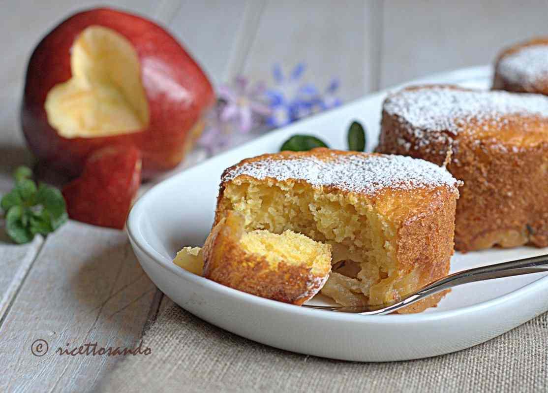 Ricetta: Minicakes di mele alla ricotta