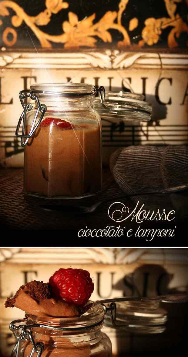 Ricetta: Mousse cioccolato e lamponi