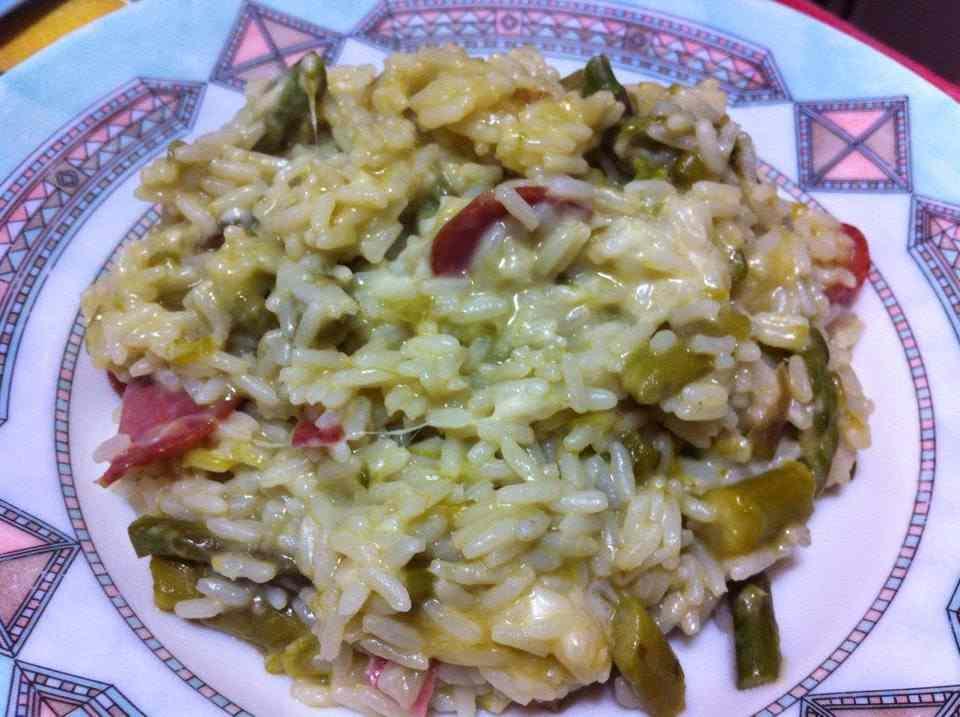 Ricetta: Risotto filante con asparagi e speck