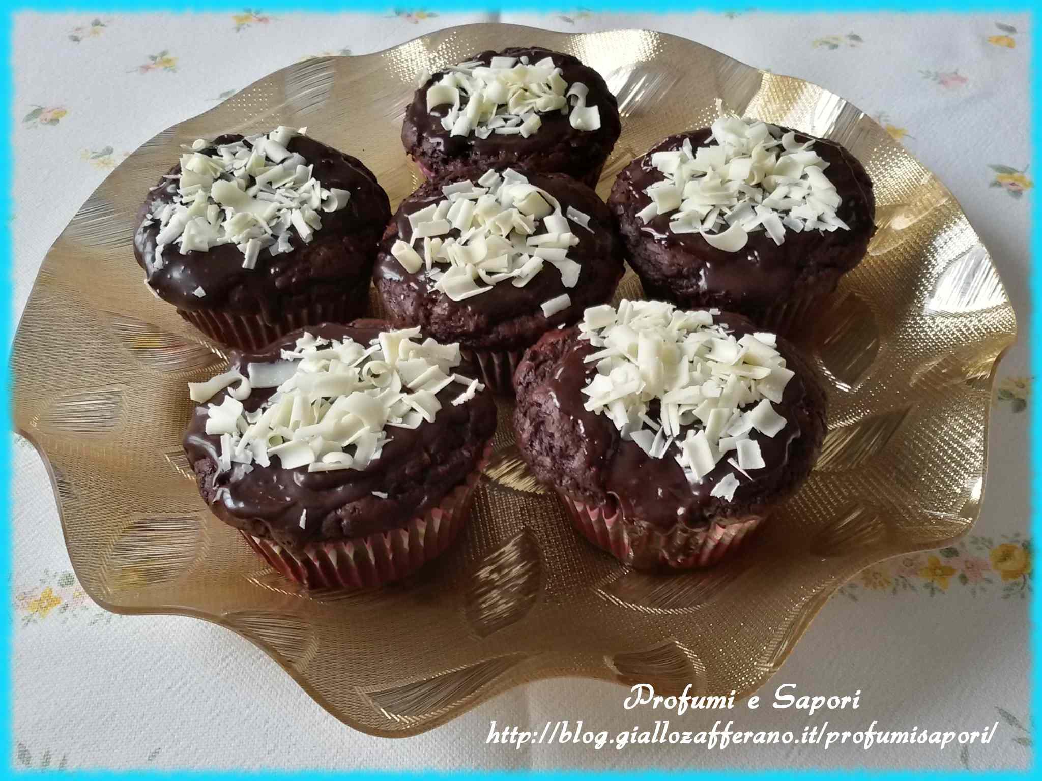 Ricetta: Muffin alla nutella con copertura bicolore