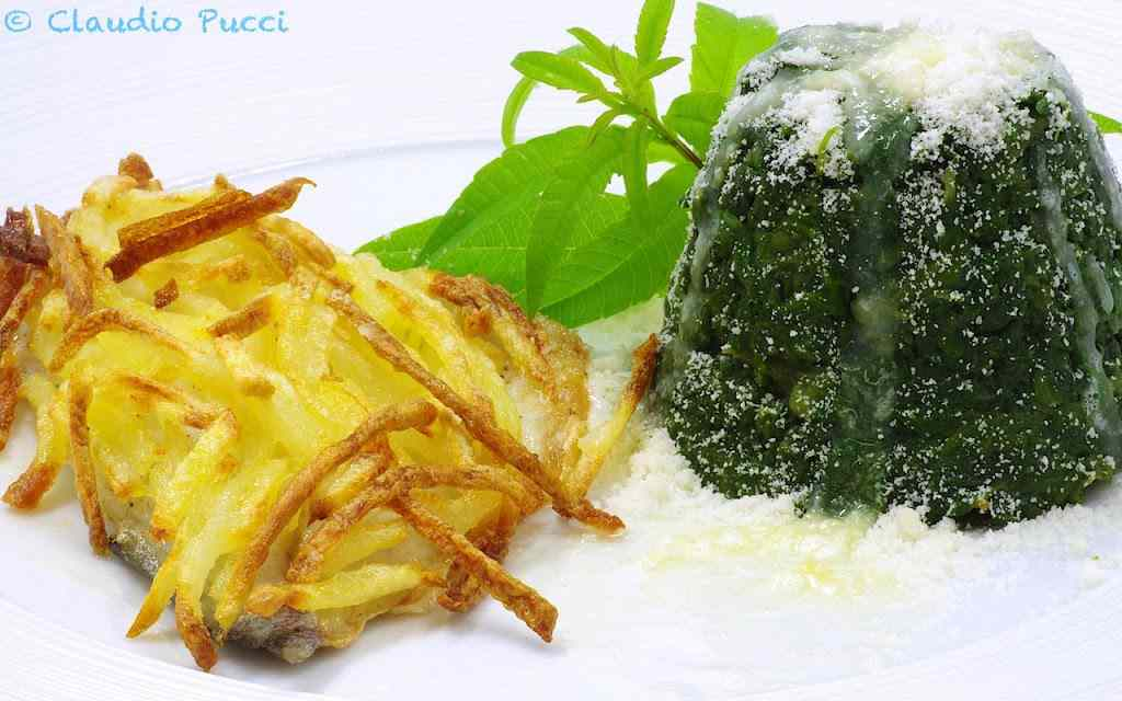 Ricetta: Filetto di branzino in crosta di patate fiammifero