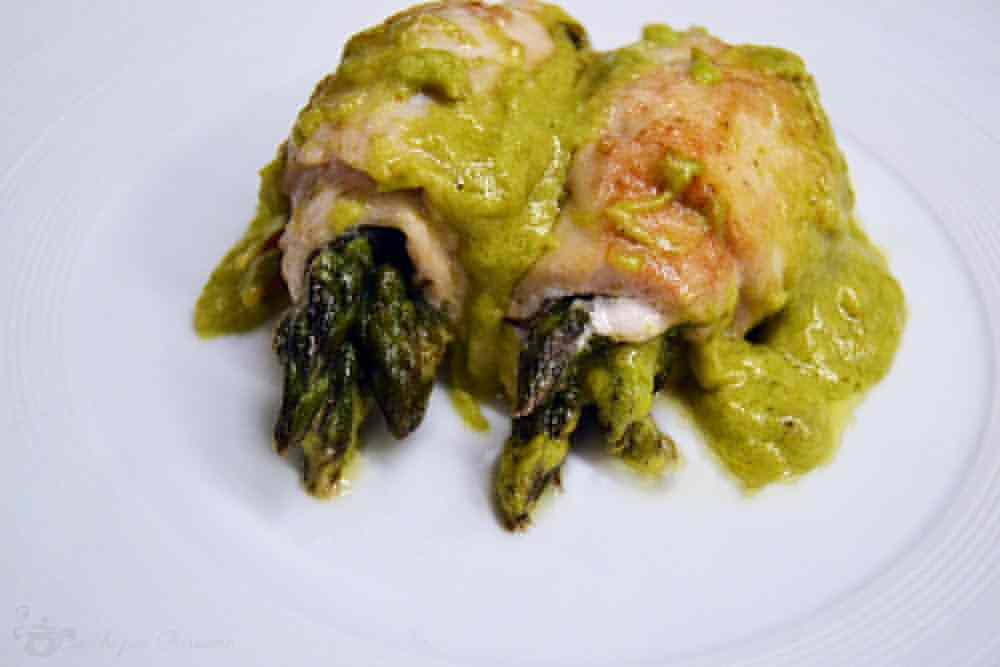 Ricetta: Involtini di pollo con asparagi