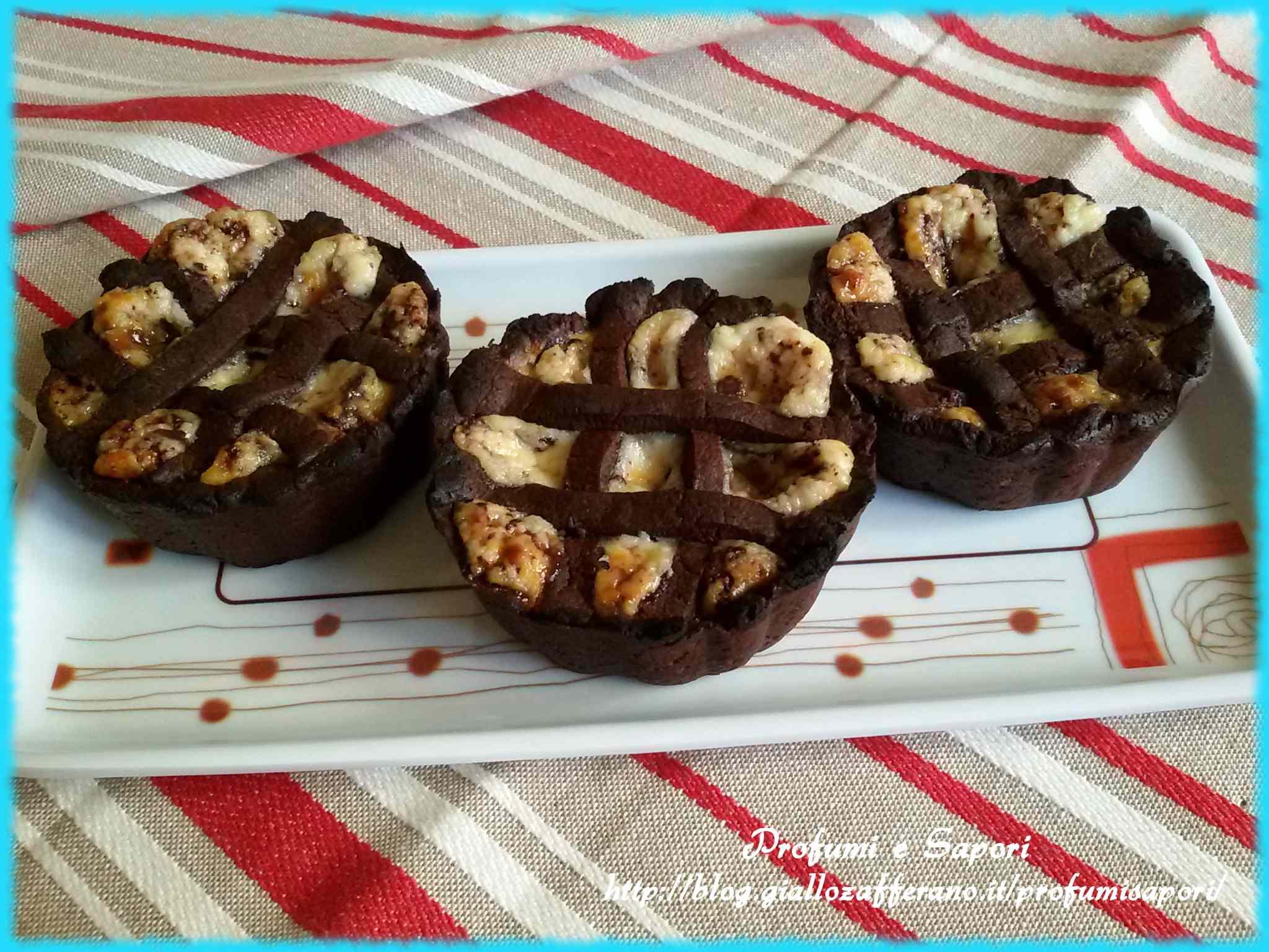 Ricetta: Crostatine al cacao con crema al mascarpone e cioccolato