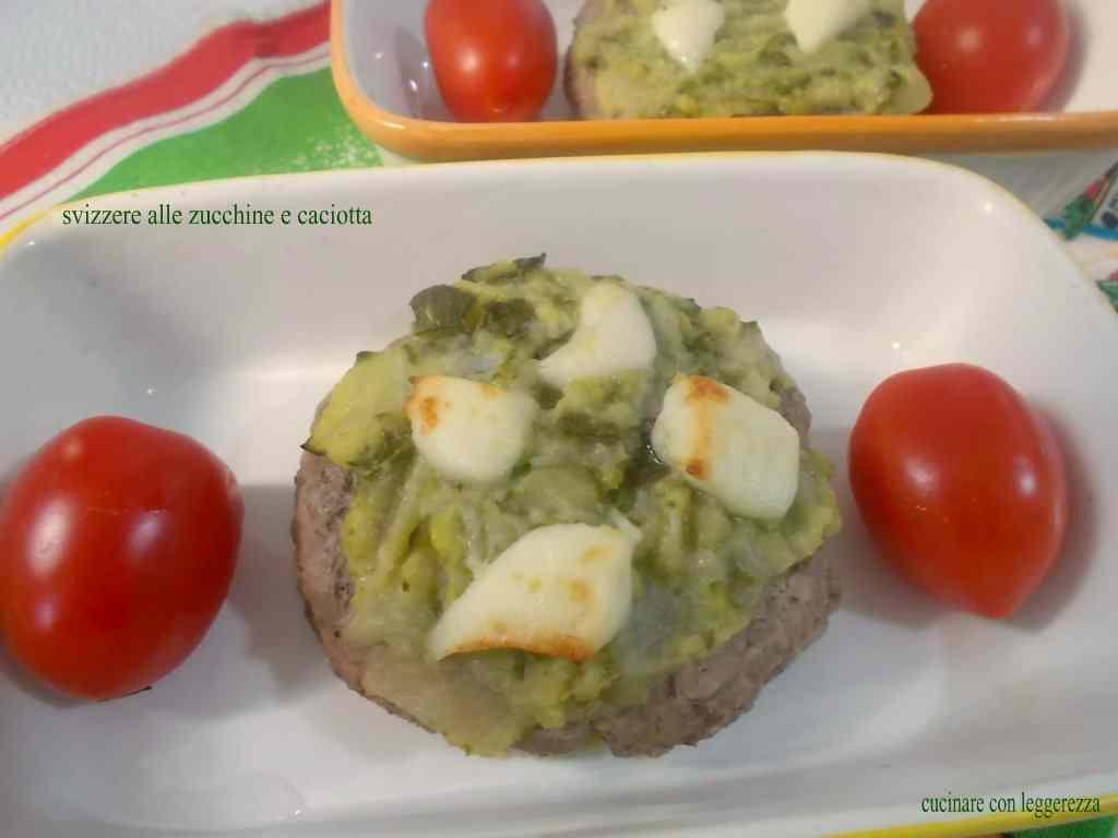 Svizzere alle zucchine e caciotta