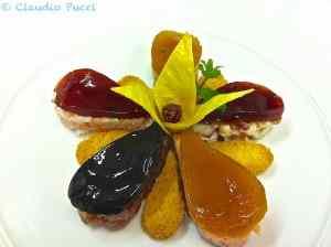 Fiore di tartare di mare con gelatine di aceti fruttati