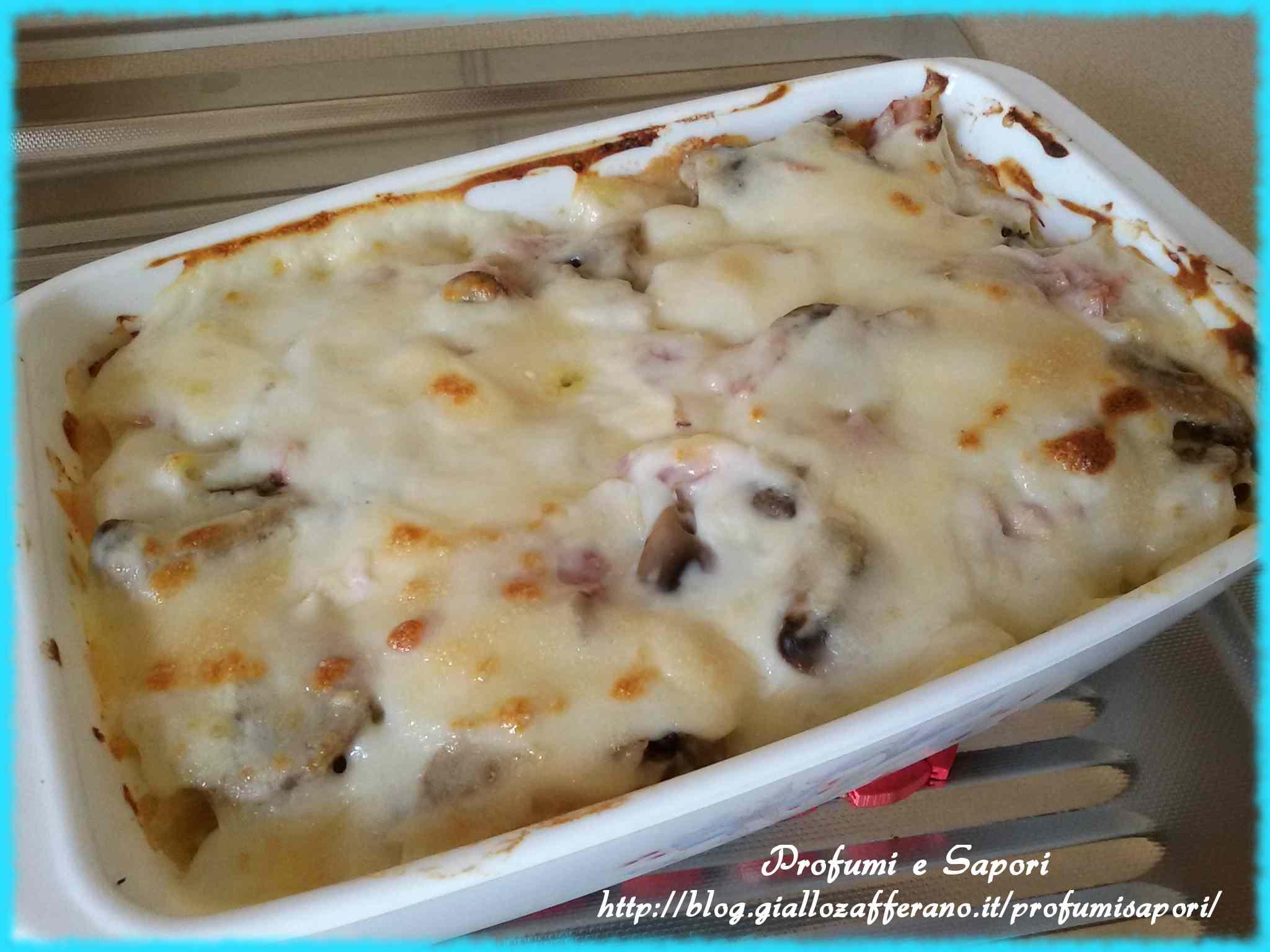 Ricetta: Pasta al forno bianca con i funghi