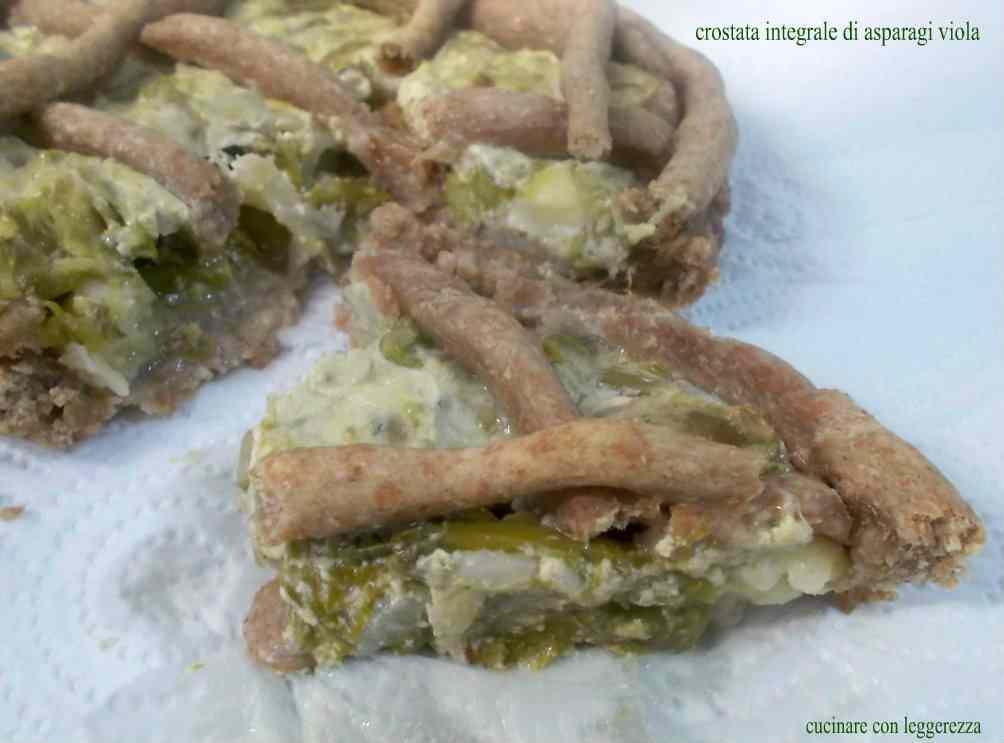 Crostata integrale di asparagi viola