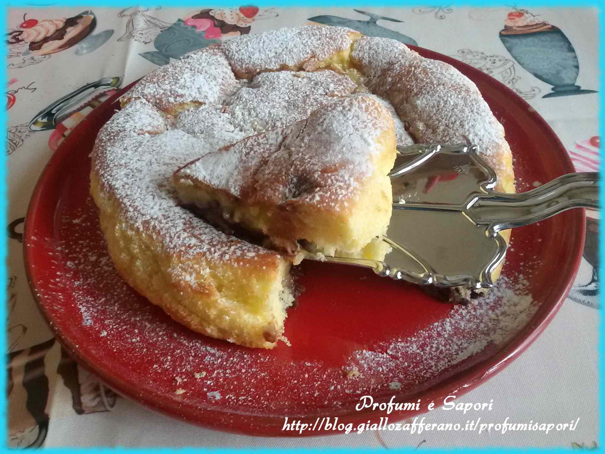 Ricetta: Torta nua con crema alla nutella