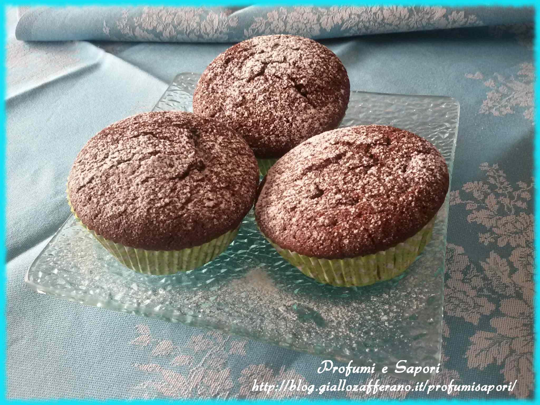 Ricetta: Muffin cacao e panna morbidissimi