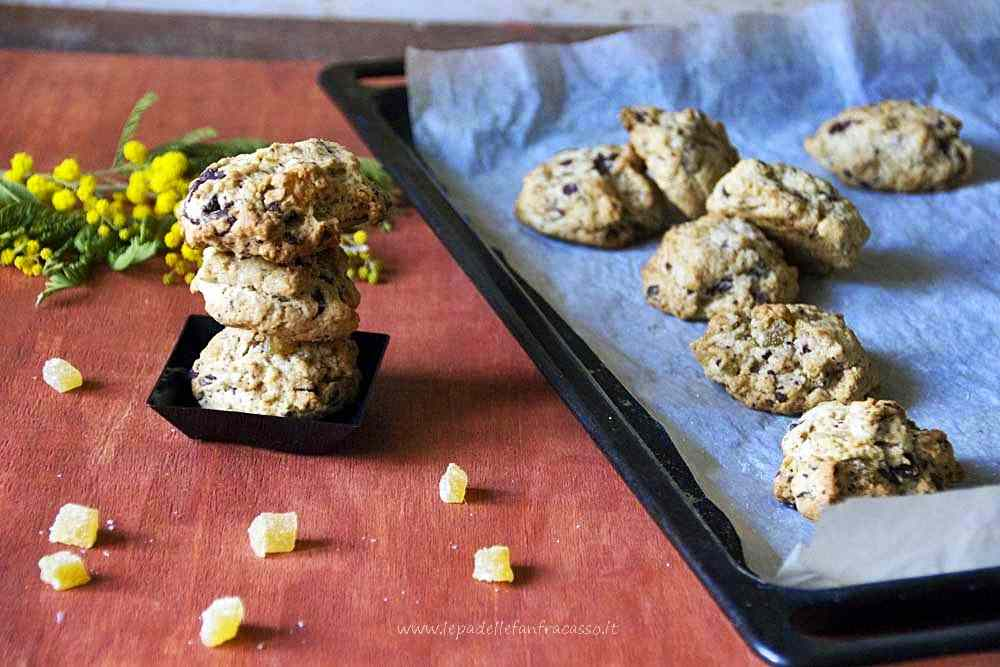Ricetta: Biscotti allo zenzero candito e cioccolato