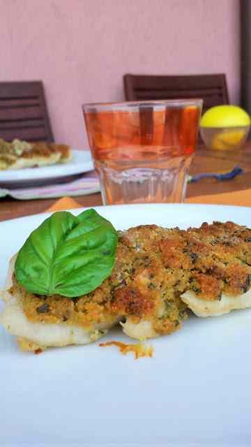 Ricetta: Merluzzo in crosta di parmigiano e basilico
