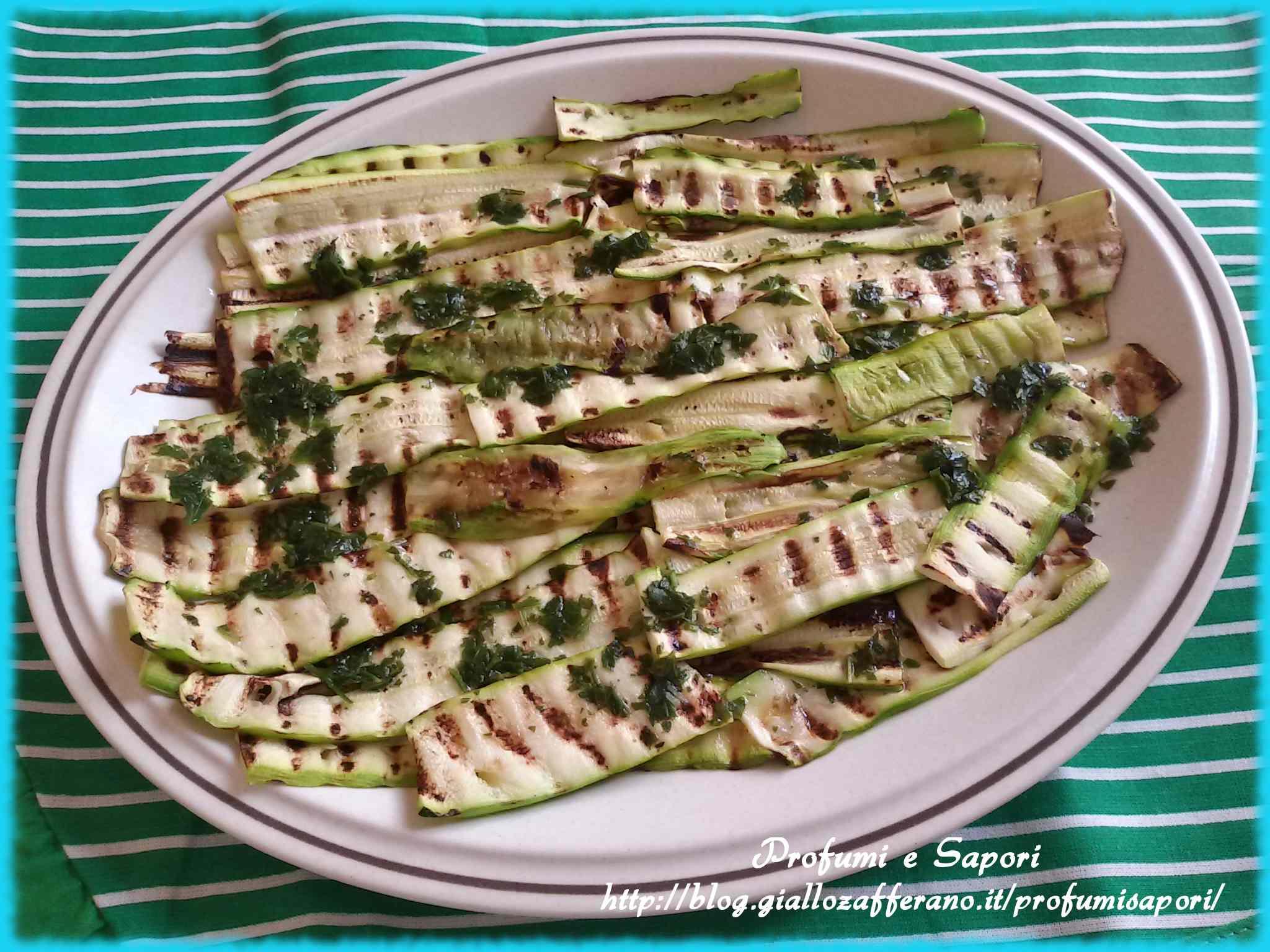 Ricetta: Zucchine grigliate