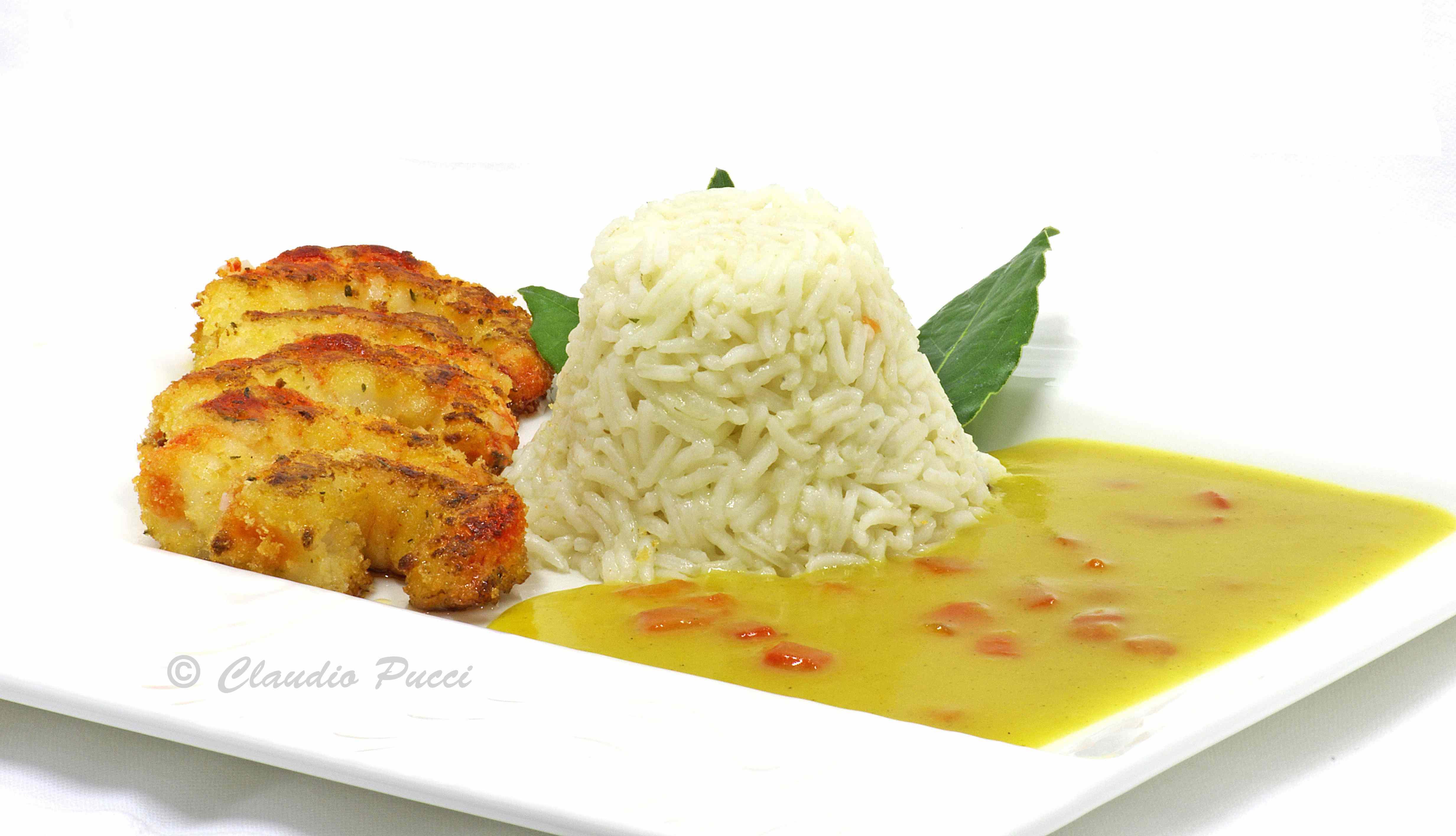 Ricetta: Gamberoni al profumo di timo con riso basmati pilaw e salsa curry