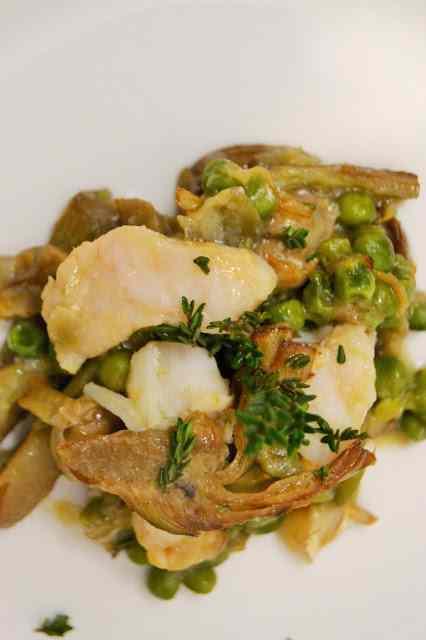 Ricetta: Straccetti di baccala con verdure primaverili