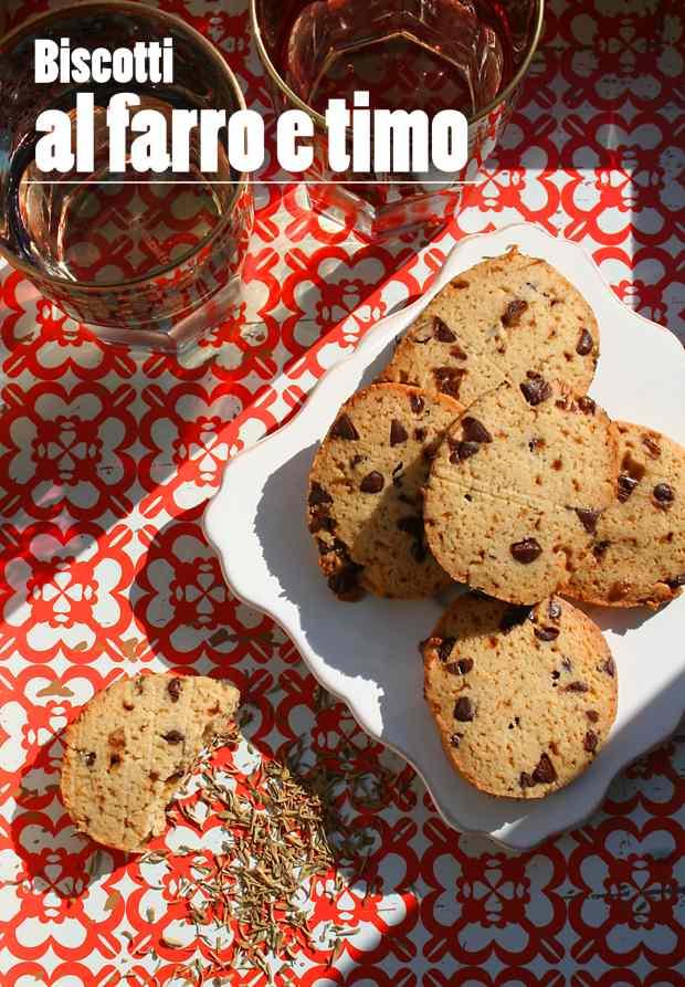 Ricetta: Biscotti al farro e timo