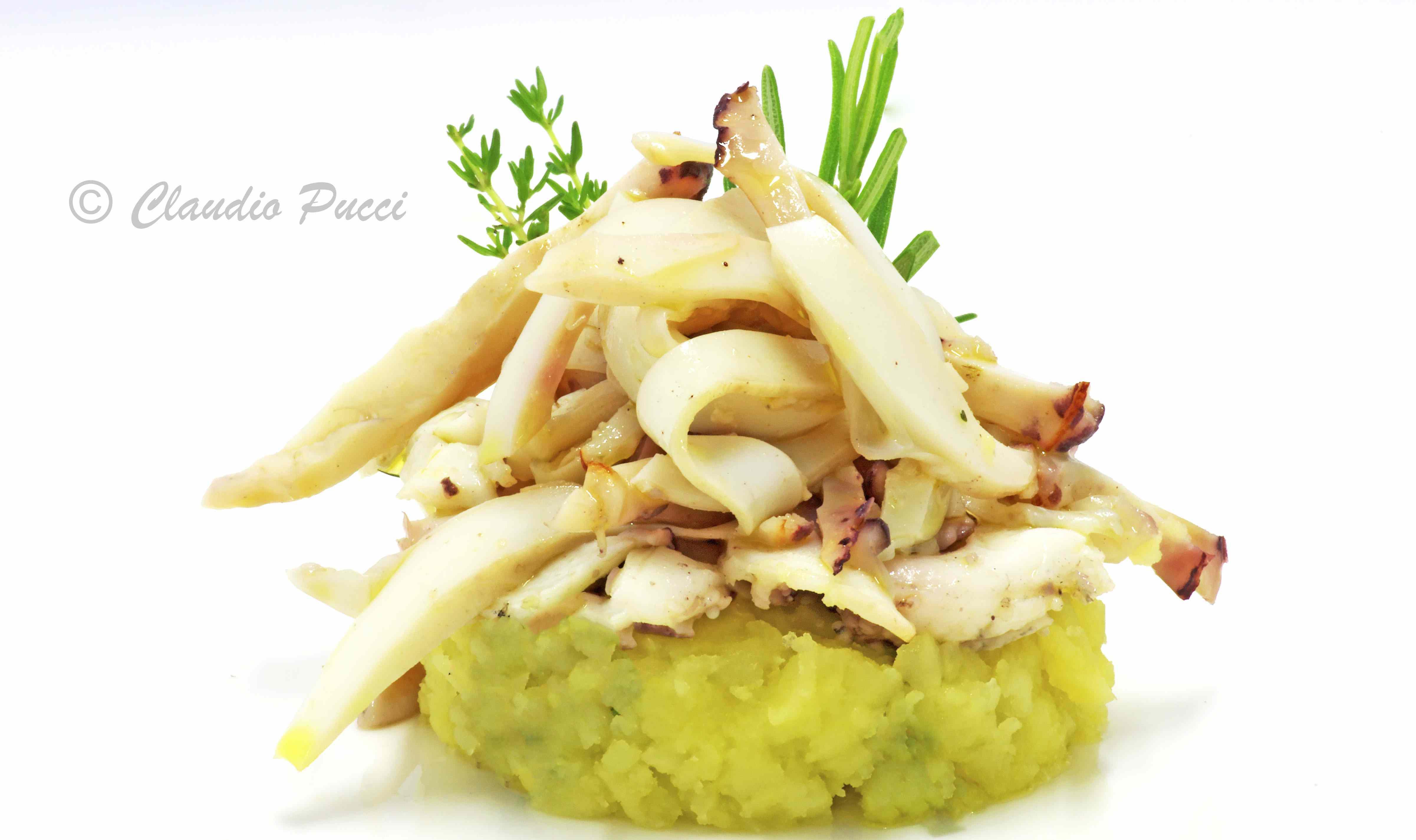 Ricetta: Seppie grigliate al timo con patate mache