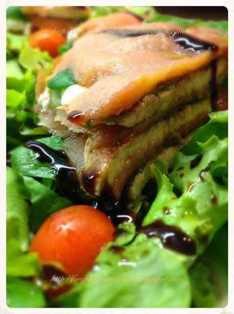 Ricetta: Millesfoglie di salmone, bufala e spinacino