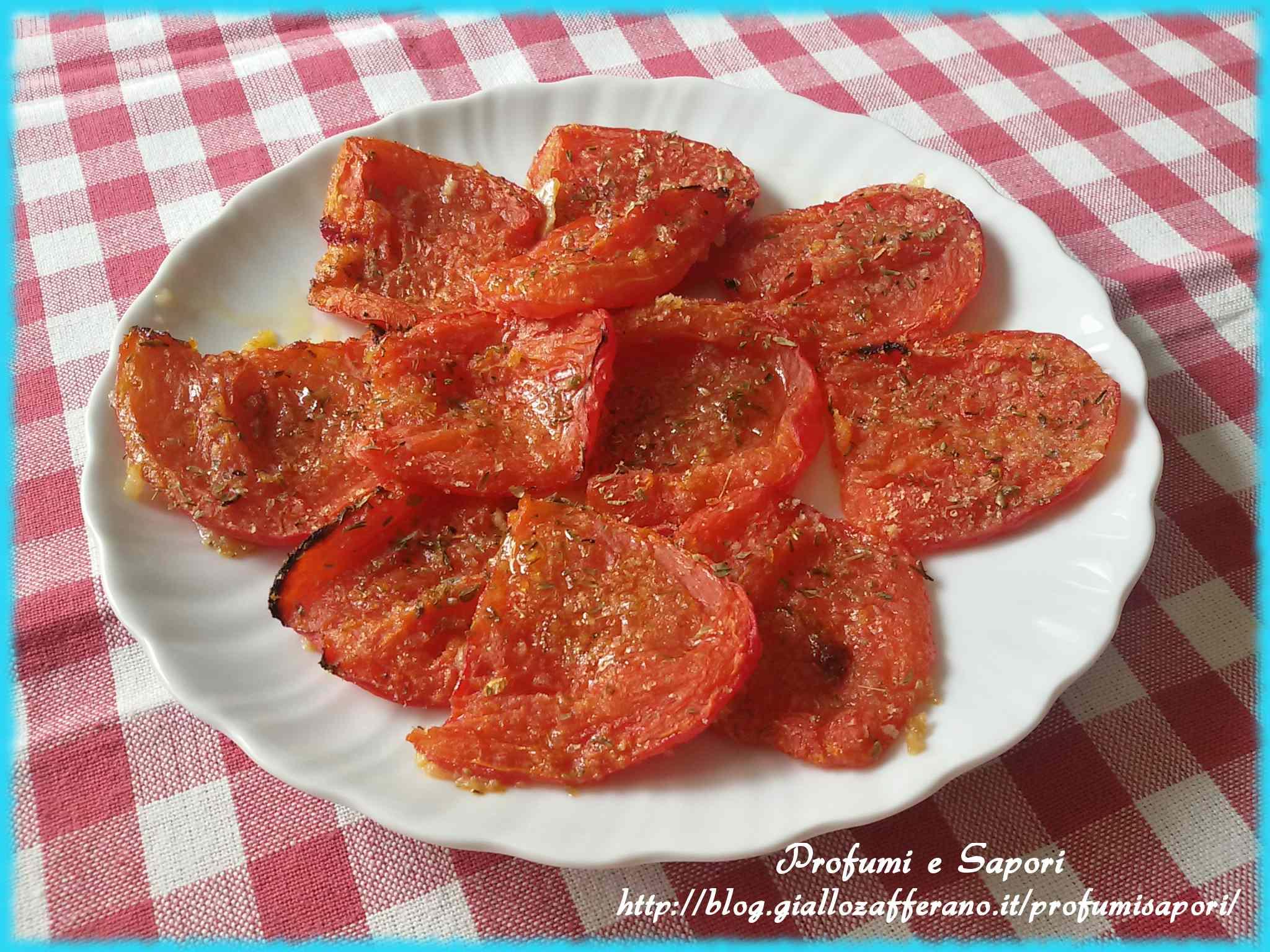 Ricetta: Pomodori perini gratinati al forno