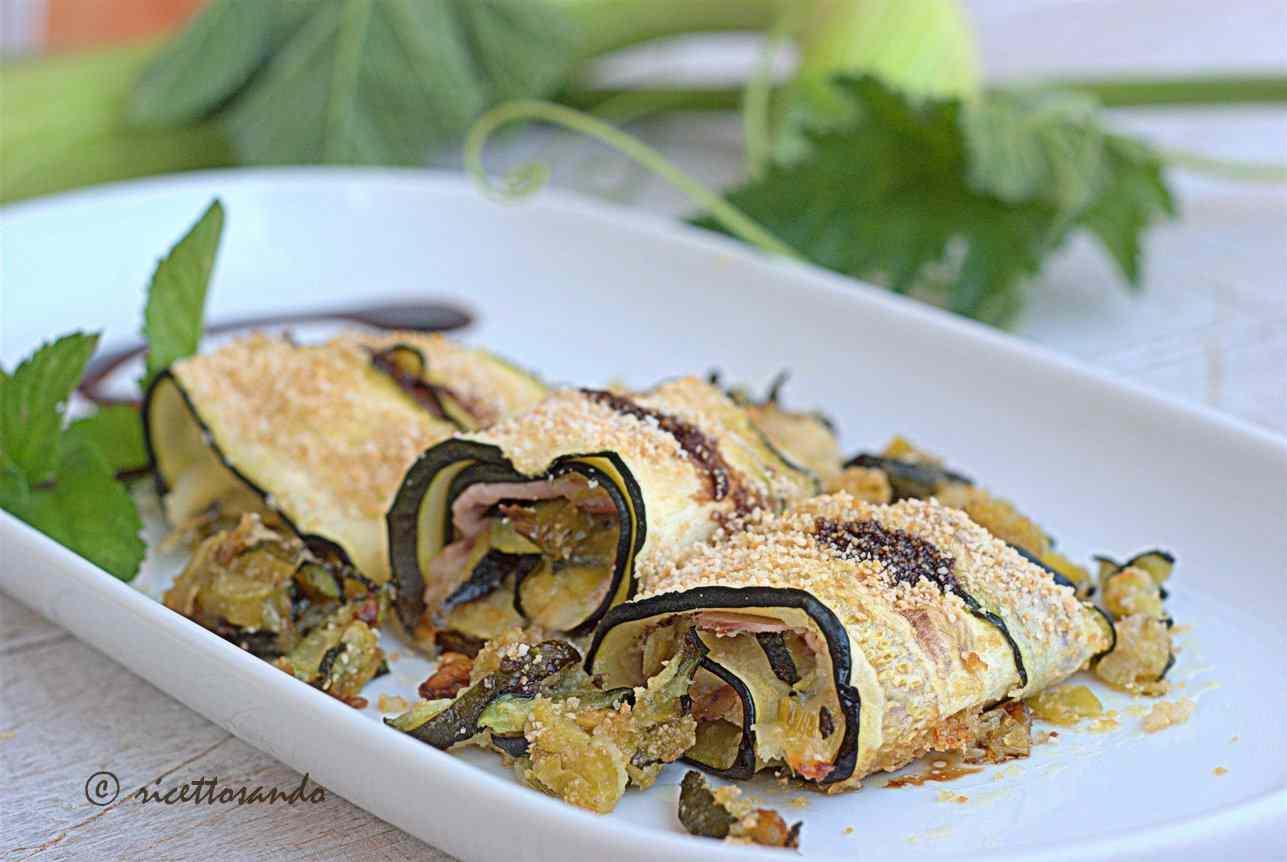 Ricetta: Involtini di zucchina con stracchino e prosciutto