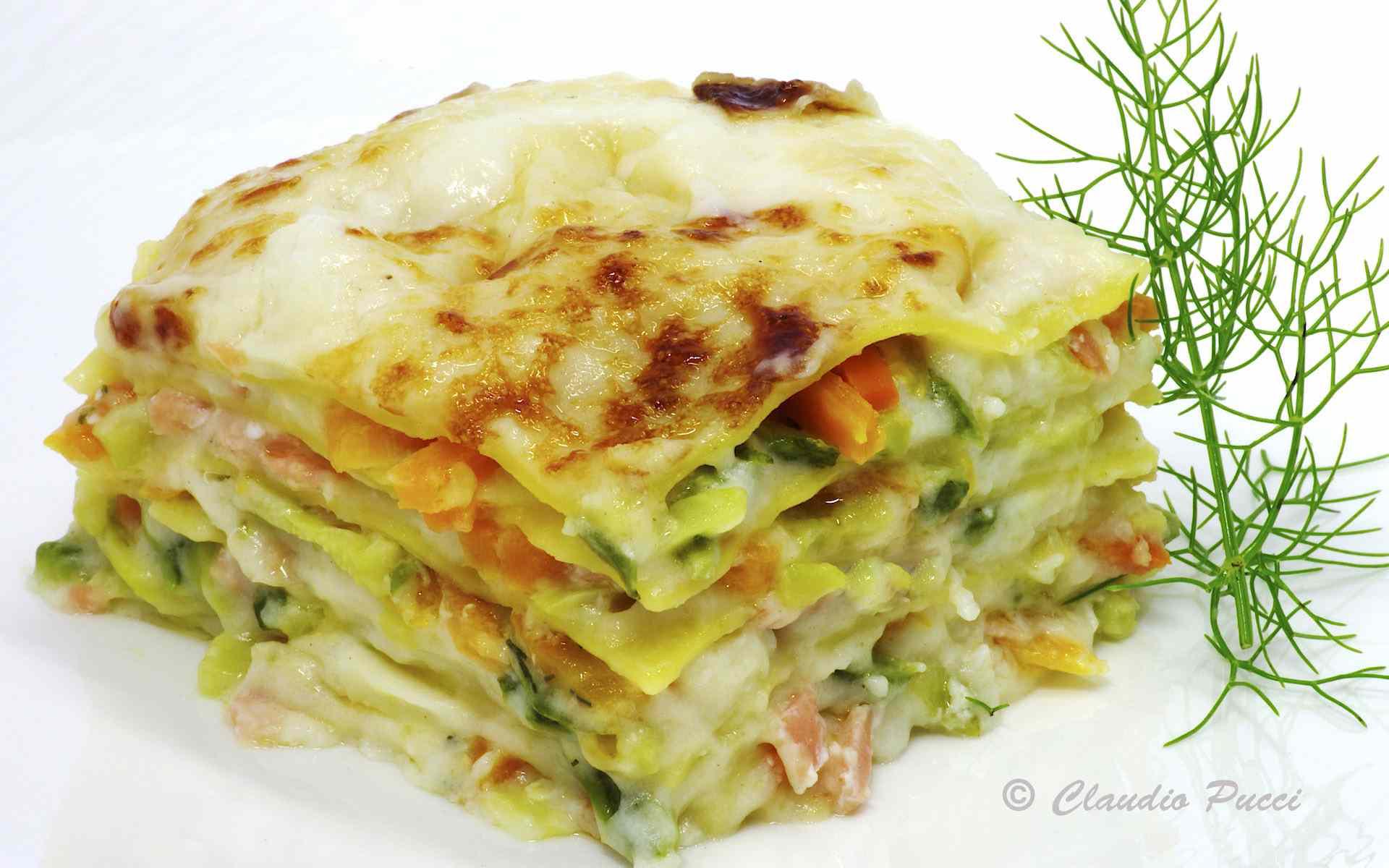 Ricetta: Lasagnette al salmone con verdurine croccanti