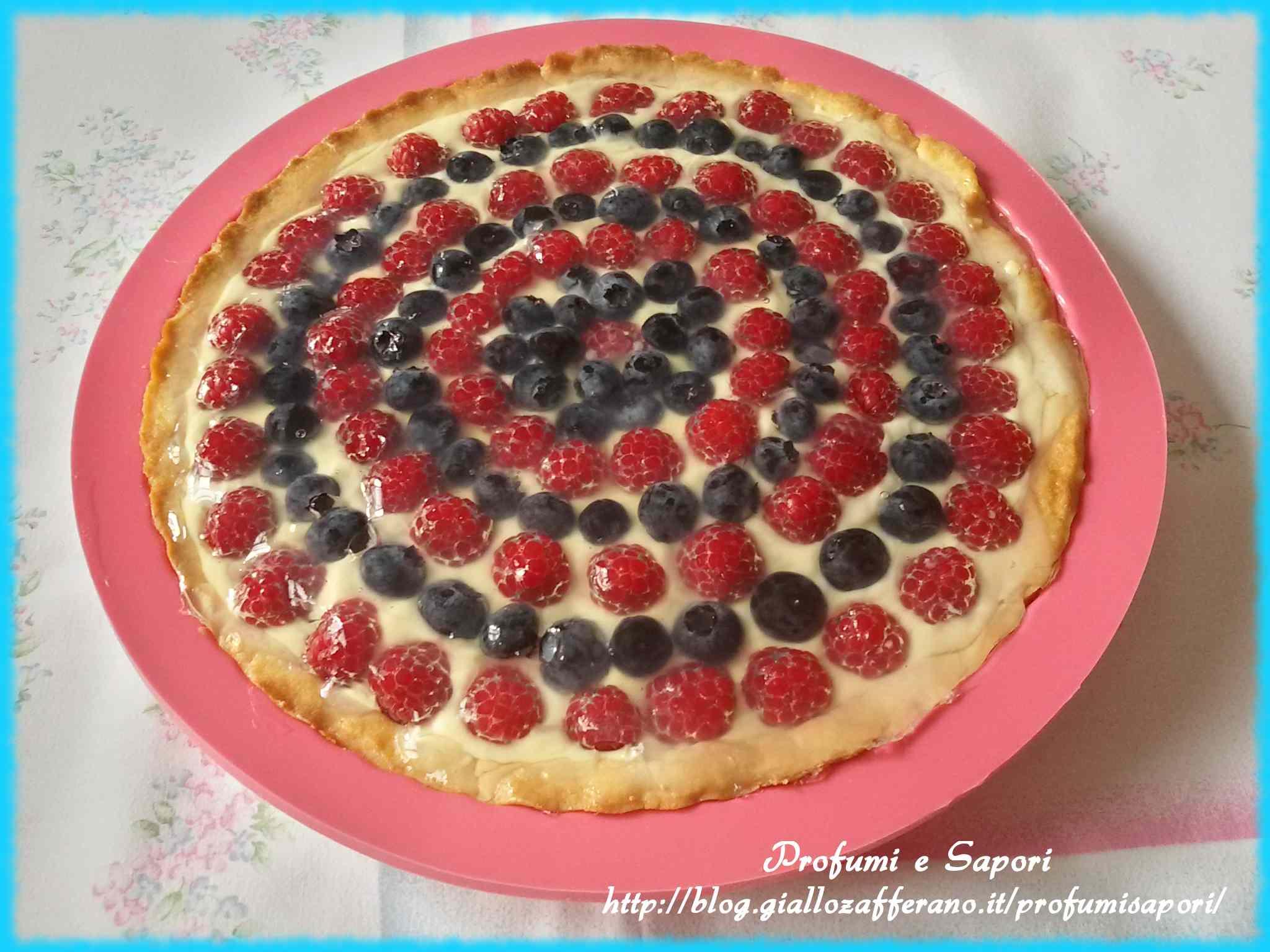 Ricetta: Crostata alla crema chantilly e frutti di bosco