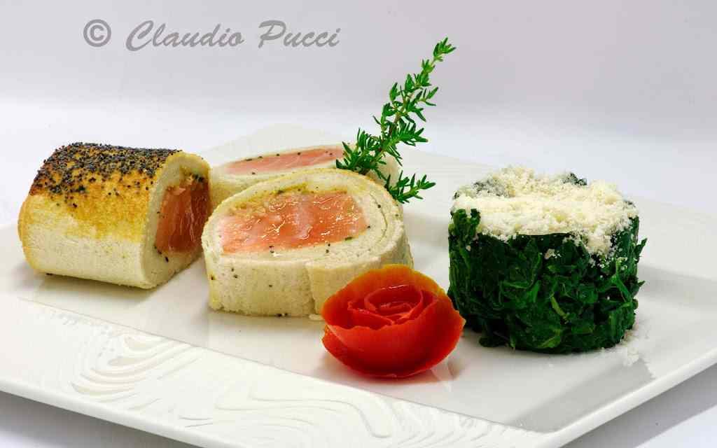 Salmone alle erbe aromatiche in crosta di pane e semi di papavero