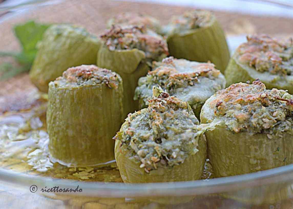 Ricetta: Zucchine con ripieno light