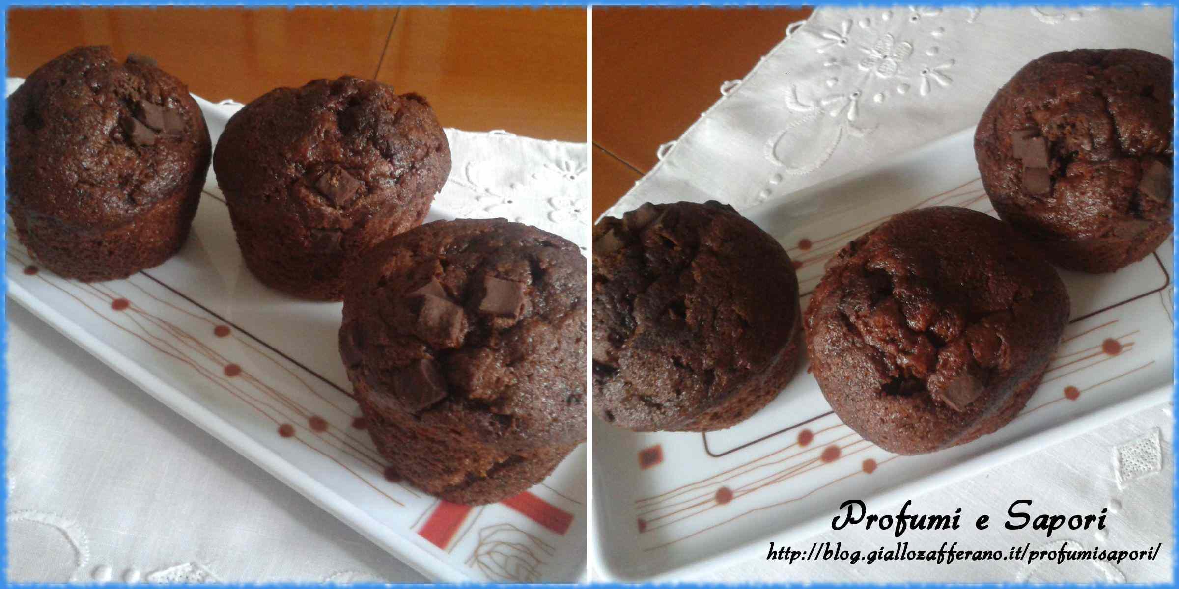 Ricetta: Muffins al doppio cioccolato