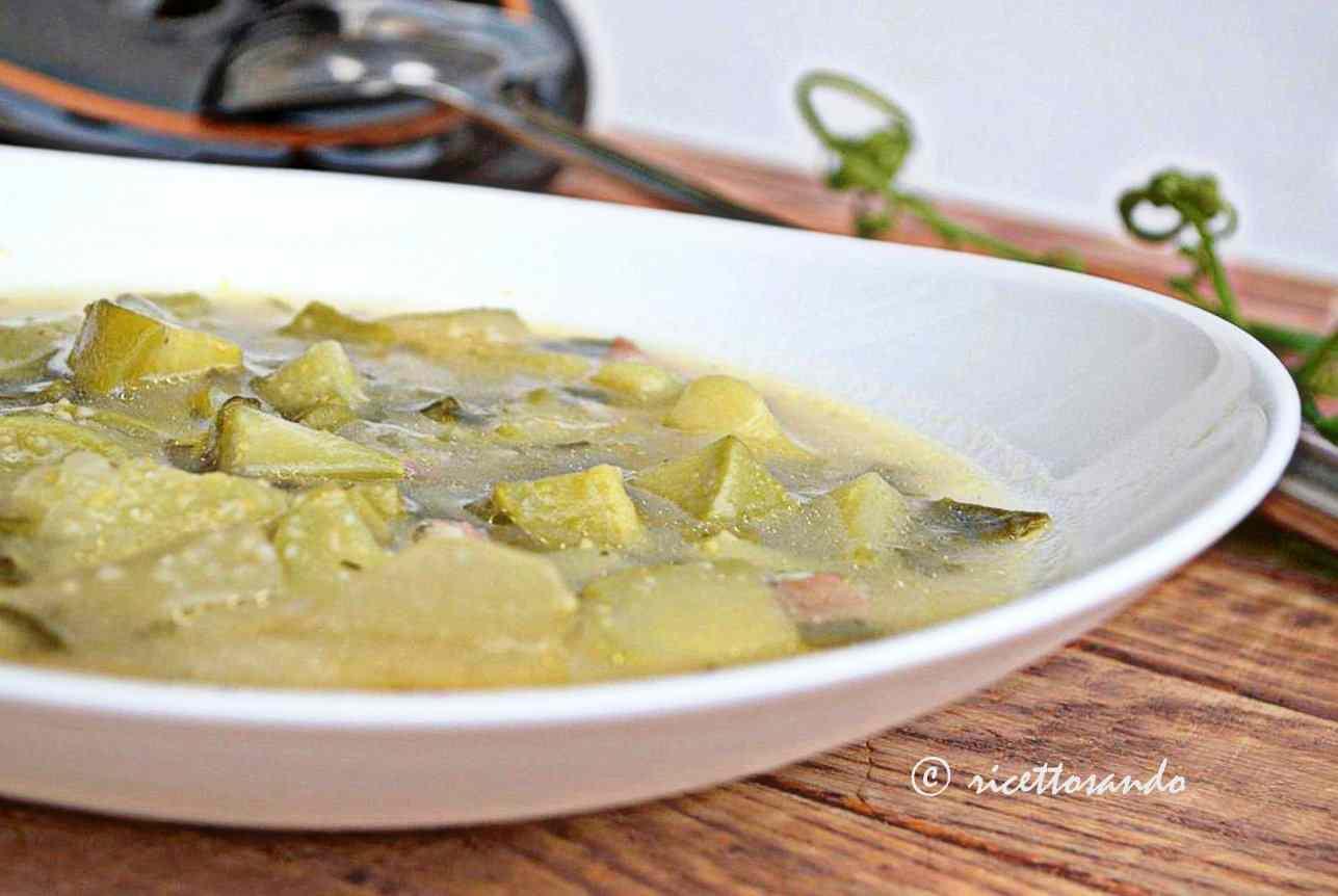 Ricetta: Zuppa di zucchine genovesi e mais