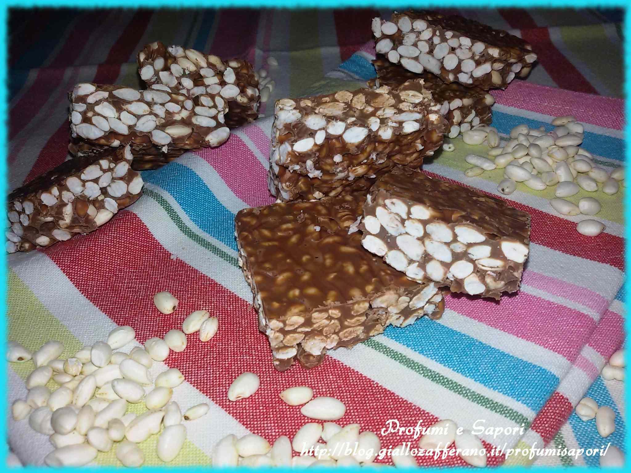 Ricetta: Barrette al riso soffiato e cioccolato