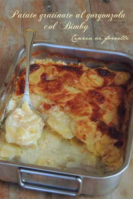 Ricetta: Patate gratinate col Bimby al gorgonzola