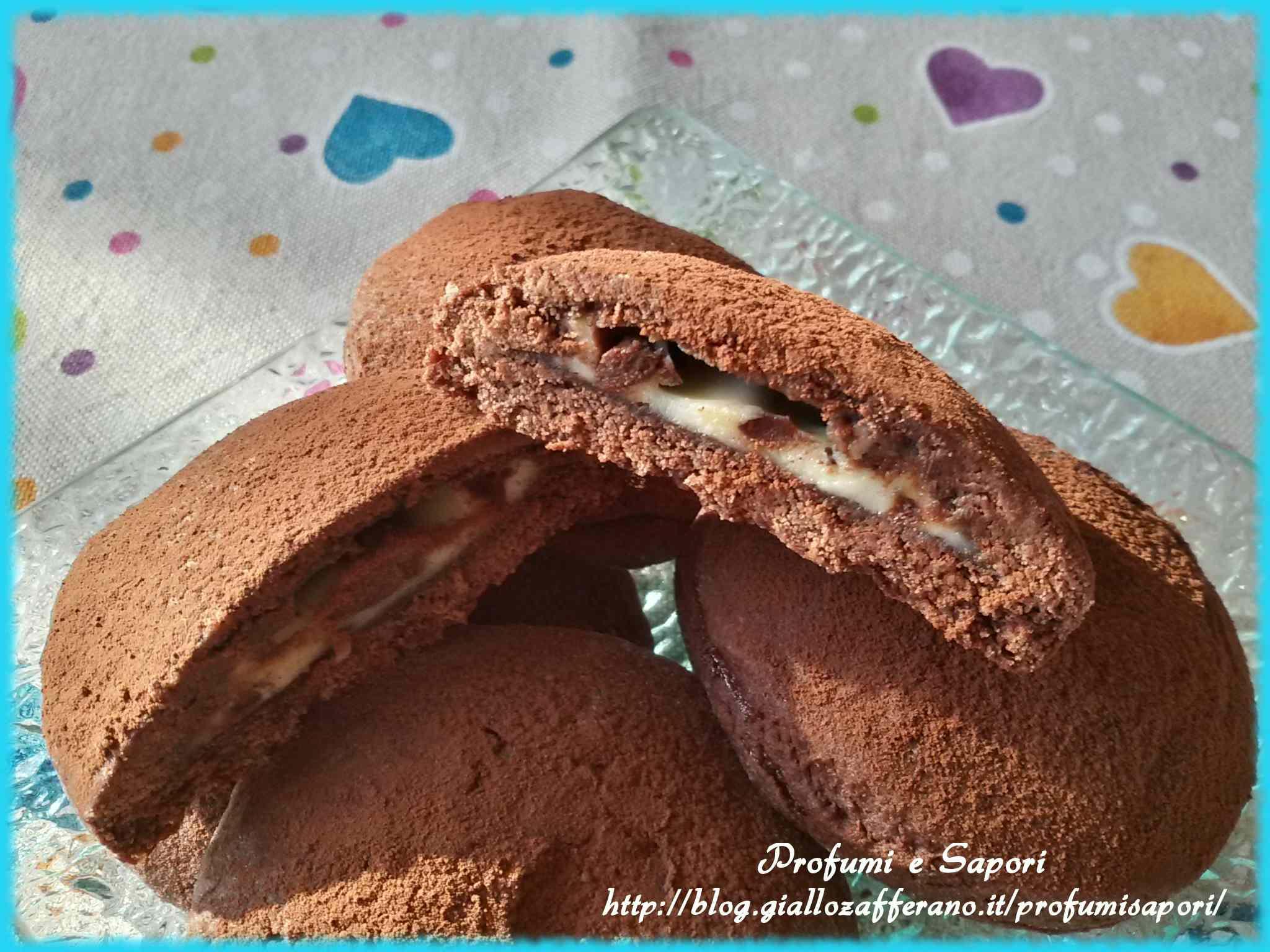 Ricetta: Biscotti al cacao con cuore al mascarpone