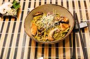 Ricetta: Spaghetti al the verde con i funghi