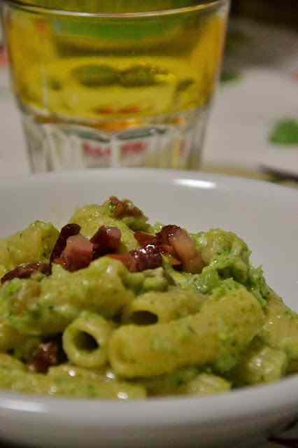 Ricetta: Pasta crema di broccoli e pancetta croccante