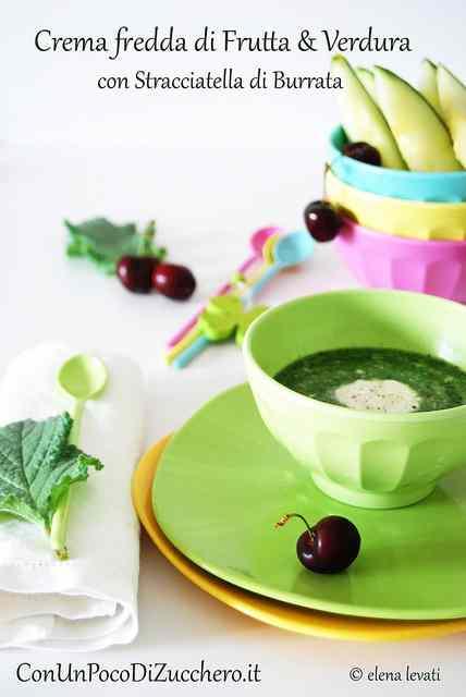 Ricetta: Crema fredda di frutta e verdura con burrata