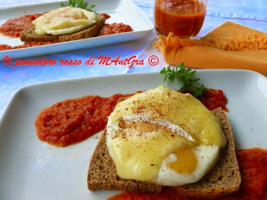 Ricetta: Crostoni con uova e Brie su letto di Polpapiu