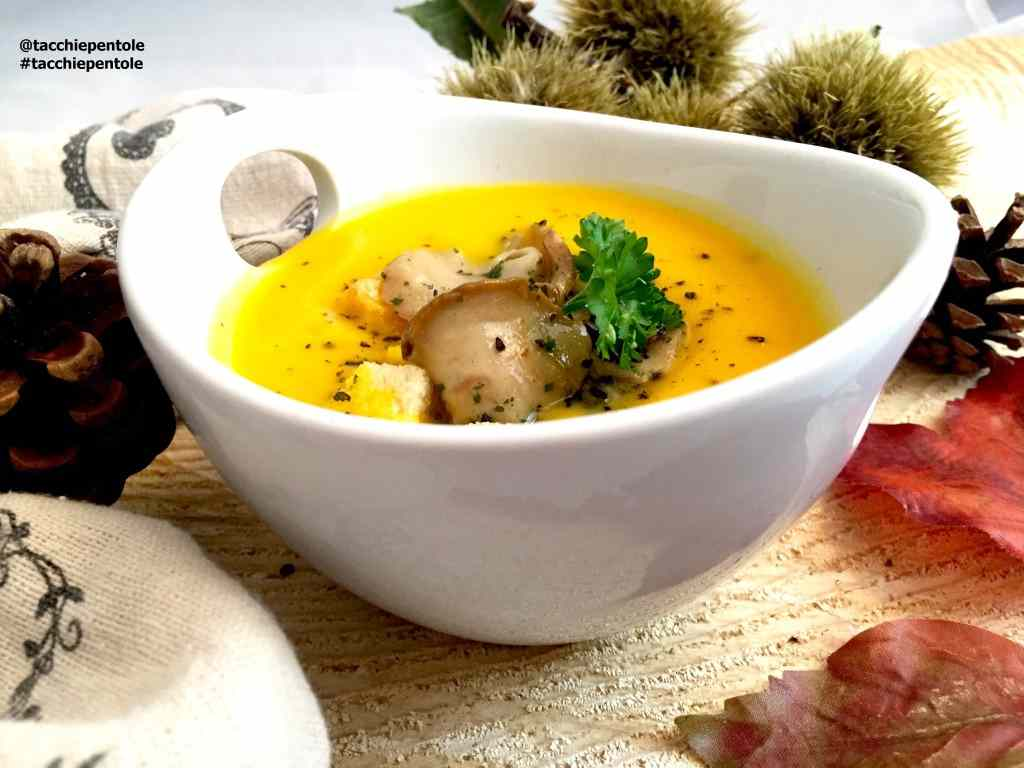 Ricetta: Vellutata di zucca con funghi porcini