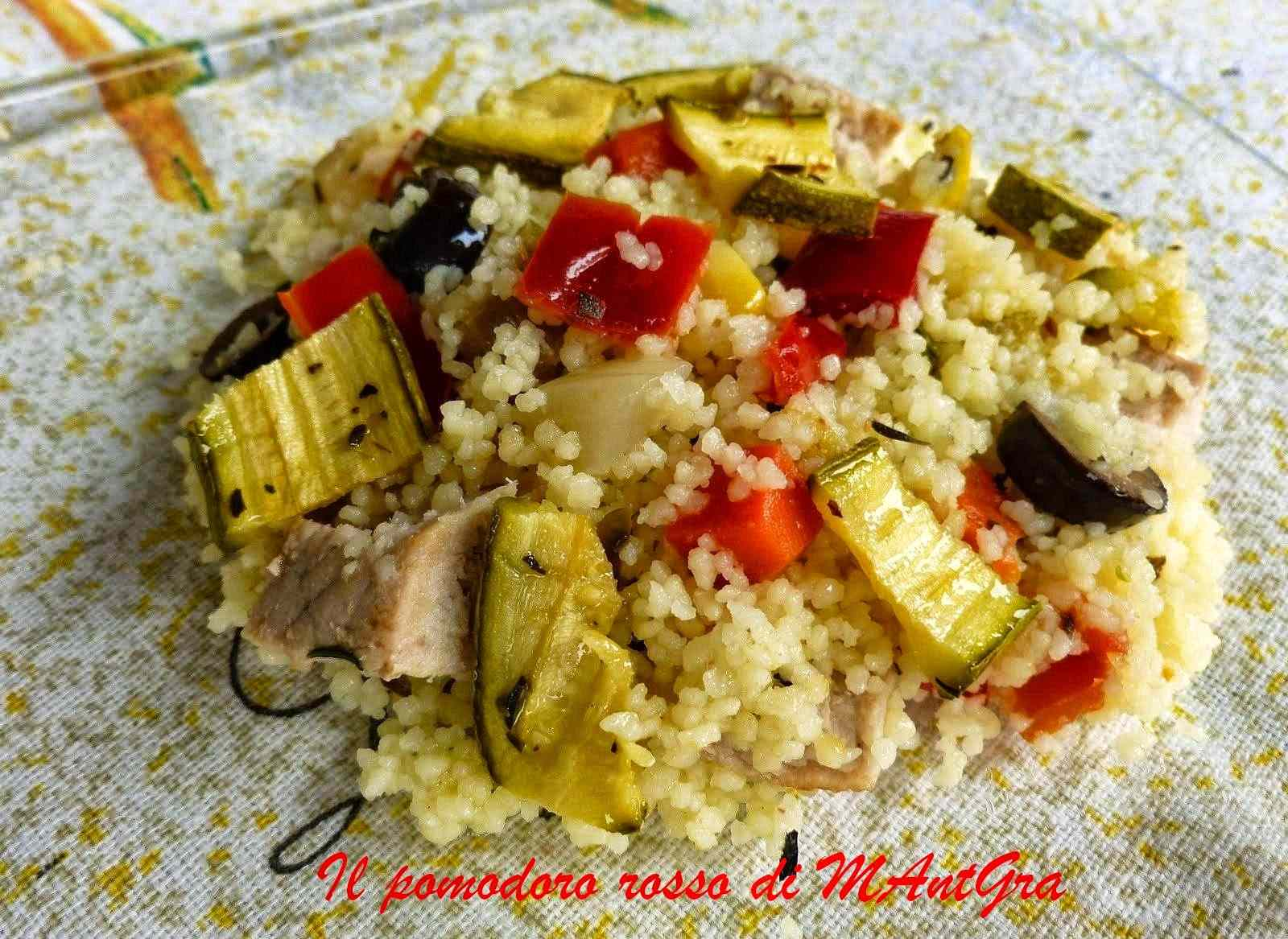 Ricetta: Insalata di cous cous lonza e verdure grigliate