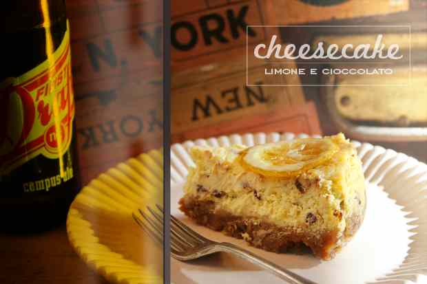 Ricetta: Cheesecake limone e cioccolato