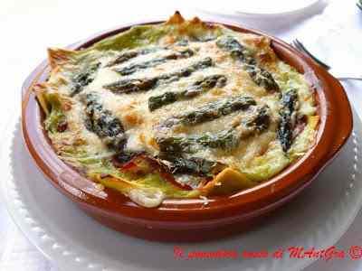 Ricetta: Lasagne con asparagi e speck