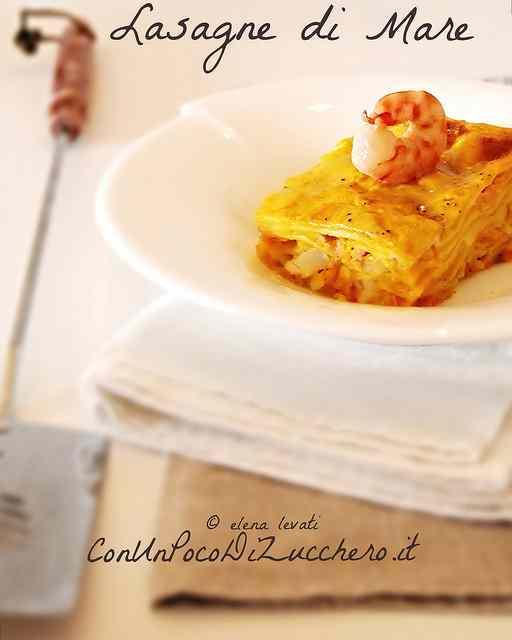 Ricetta: Lasagne di mare. Alla zucca, con ragu di gamberi e salmone affumicato