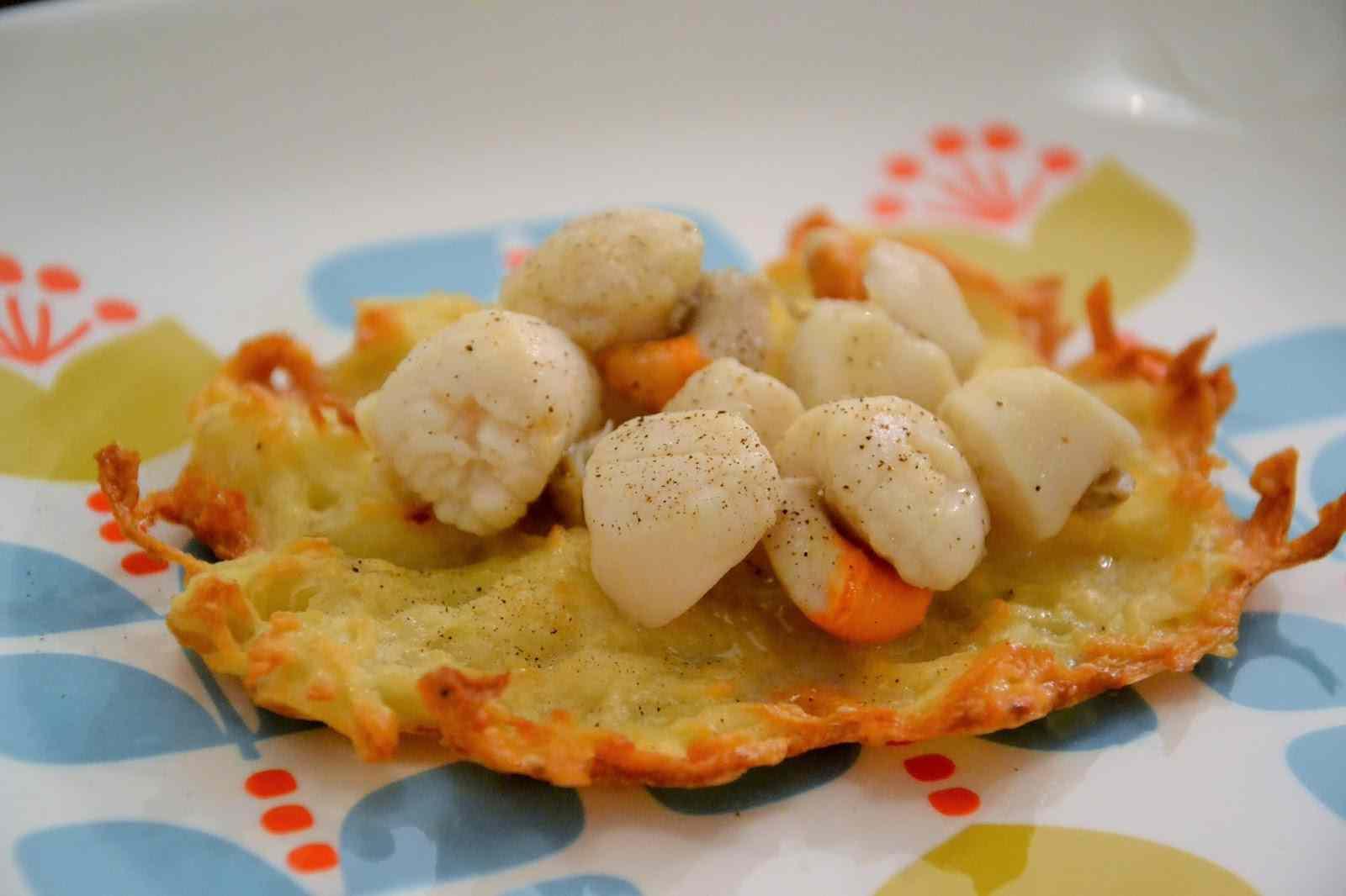Ricetta: Capesante con gallette di patate