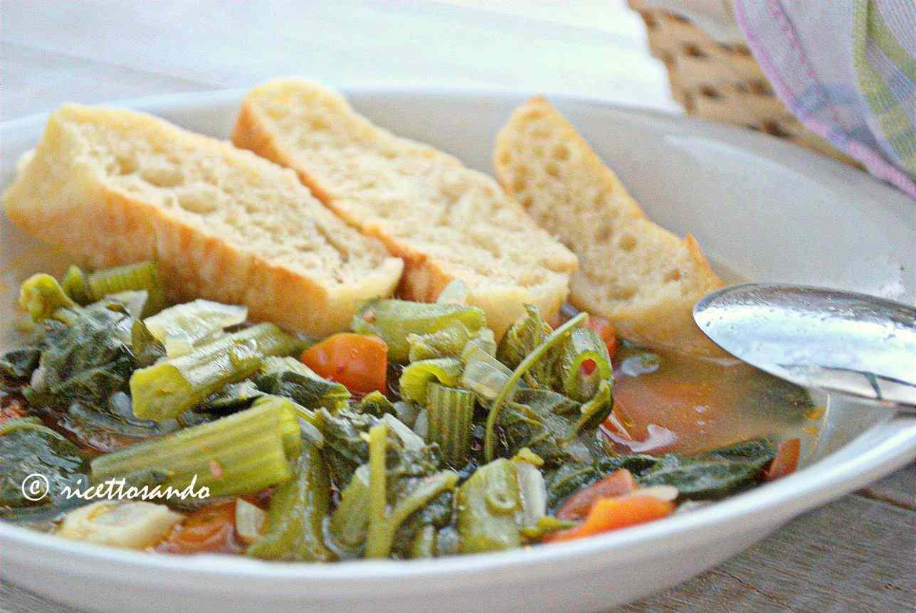 Ricetta: Minestra estiva light con germogli di zucchina