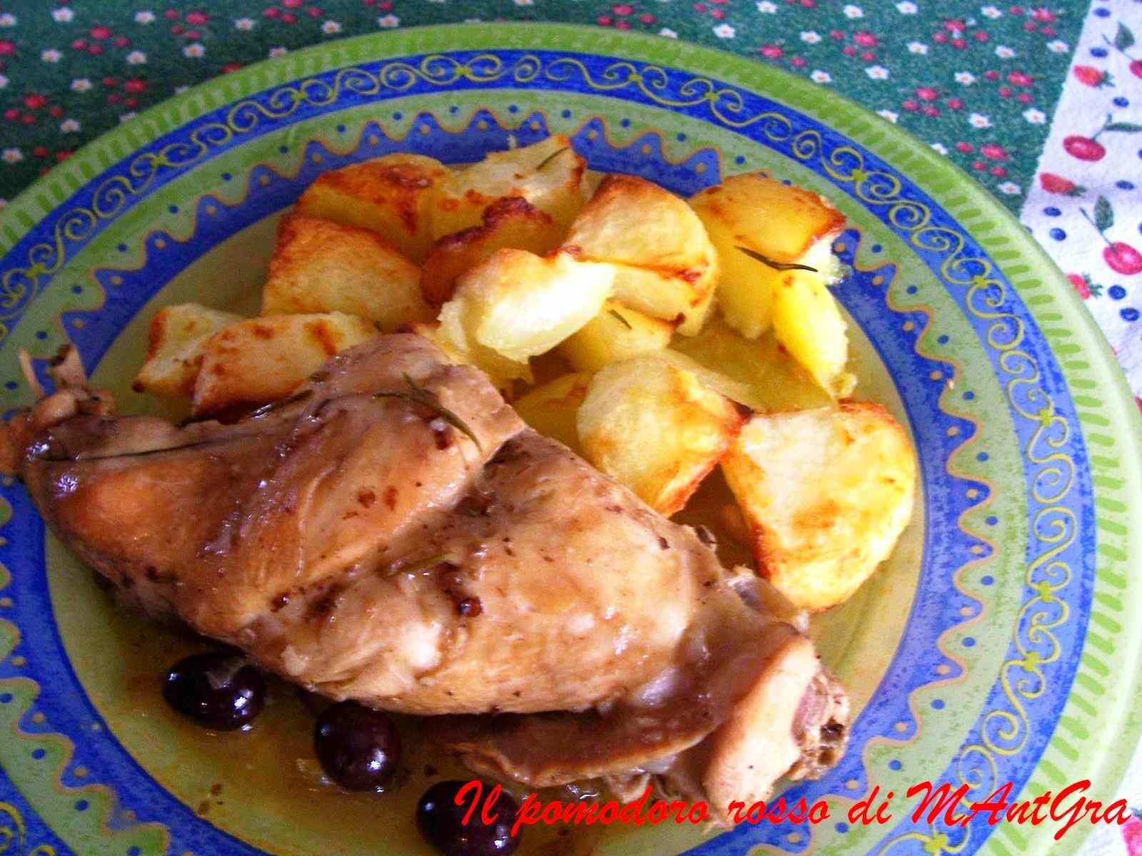 Ricetta: Coniglio alle olive e pinoli