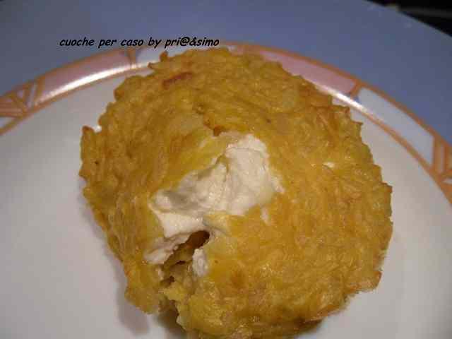 Ricetta: Timballo di riso con cuore di philadelphia by simo