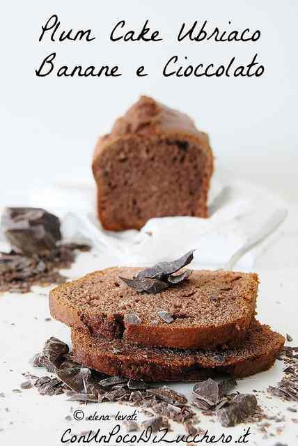 Ricetta: Plum cake ubriaco di banane e cioccolato