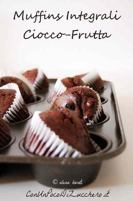 Ricetta: Muffin integrali ciocco frutta (senza uova e senza burro)