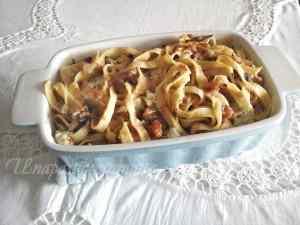 Ricetta: Tagliatelle fatte in casa, zucca, radicchio rosso, gorgonzola dolce